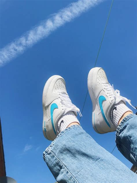 baby blue air force    baby blue aesthetic light