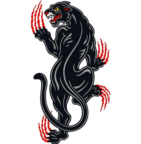 crawling panther tattoo design