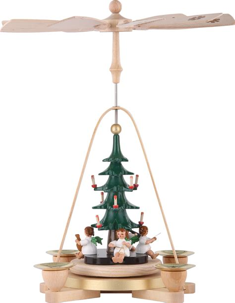 1 tier pyramid angel with christmas tree 11in 28cm by