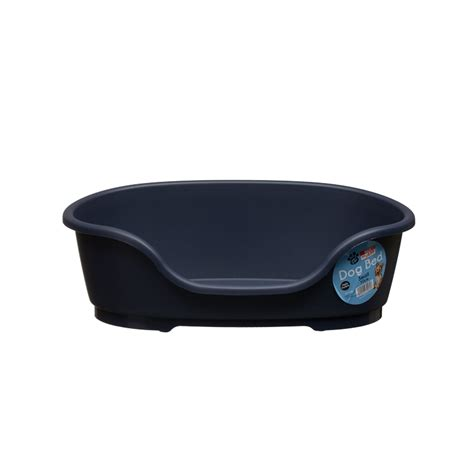 plastic dog beds b m gt plastic dog bed small 297946