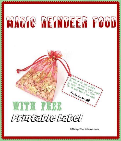 printable magic reindeer food labels magic reindeer food with free printable label fun
