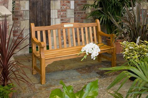 memorial bench uk 5ft solid teak memorial bench hayes garden world