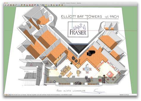 frasier floor plan an artist s impression of frasier s apartment 1901