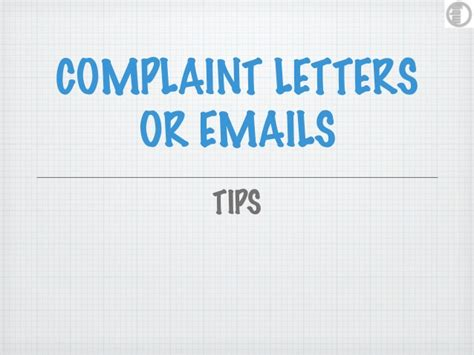 Complaint Letter Ppt Business Letter Complaint Ppt Business Letter Complaint Ppt Letters Power Point Presentation