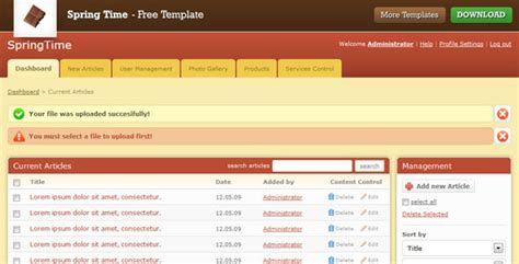 25 free and premium admin html website templates and