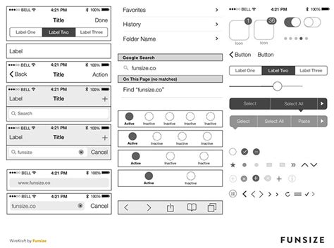 ios wireframe template 8 free ios7 wireframing kits web graphic design bashooka