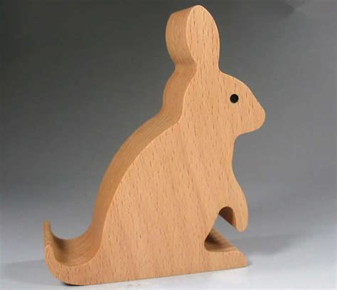 Rabbit Phone Holder wooden rabbit shaped mobile phone holder stand feelgift