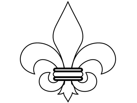free printable fleur de lis stencil clipart best