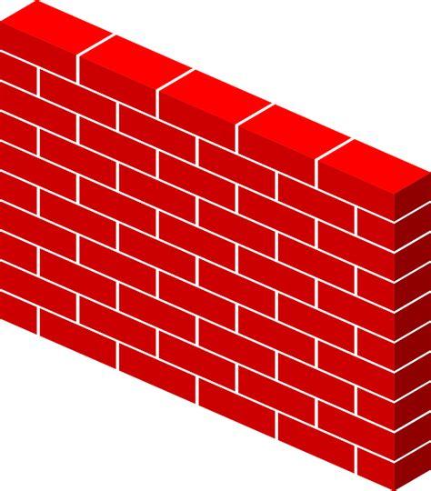 vector graphic bricks wall red  image