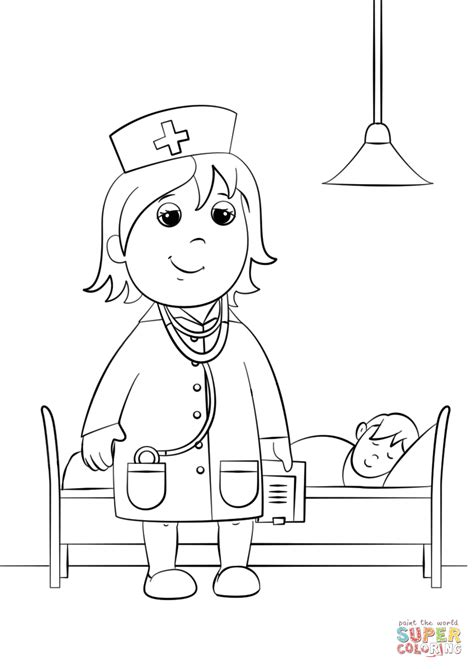 Woman Doctor Coloring Page | woman doctor coloring page free printable coloring pages