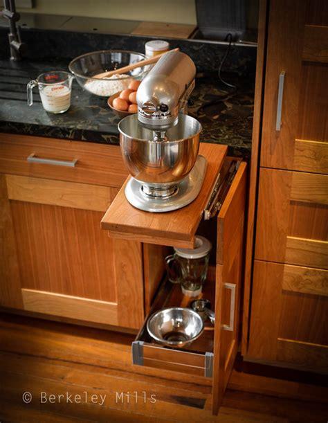 Kitchenaid Mixer Storage Mixer Storage Contemporary Kitchen San Francisco
