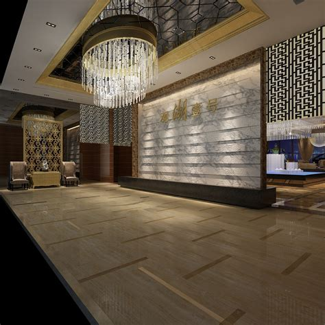 modern lobby modern lobby interior 3d model max cgtrader com