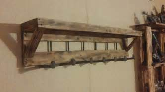 Pallet coat rack with shelf 1001 pallets