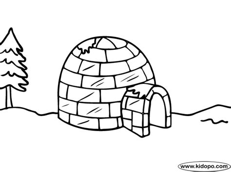 igloo coloring page free free coloring pages of dibujos de igloo