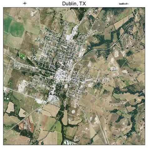 dublin texas map aerial photography map of dublin tx texas