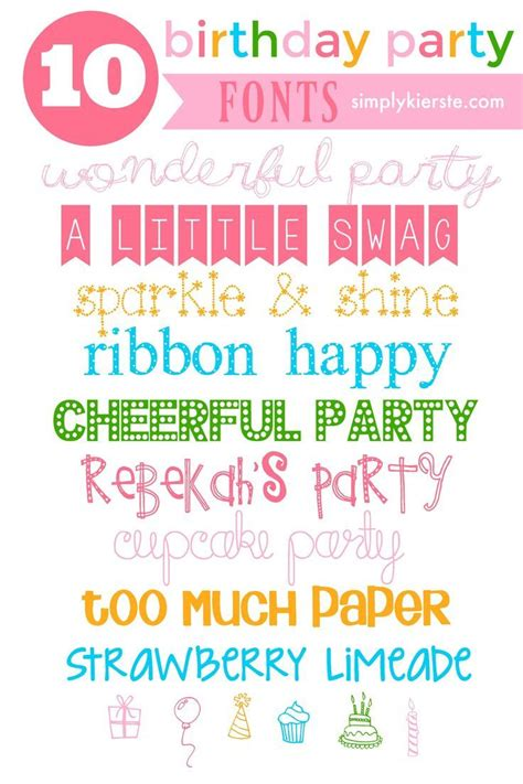 free printable birthday fonts 1000 images about diy party ideas on pinterest football