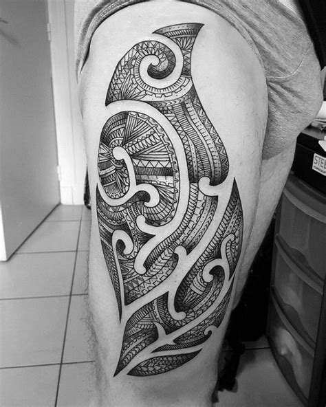 detailed tribal tattoos awesome tribal thigh tattoos pictures styles ideas