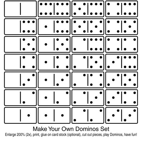 make your own clip art make your own dominos set 2 b w abcteach