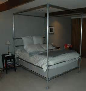 aluminum bed frame how to build a canopy bed frame with pipe