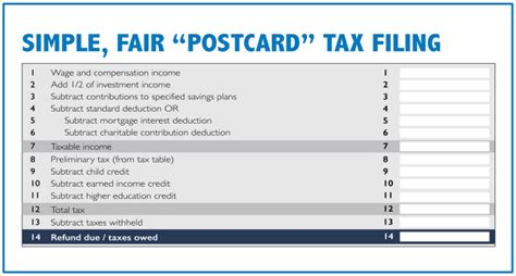 Tax Credit Form Where To Send House Gop Wants You To File Your Taxes On A Postcard