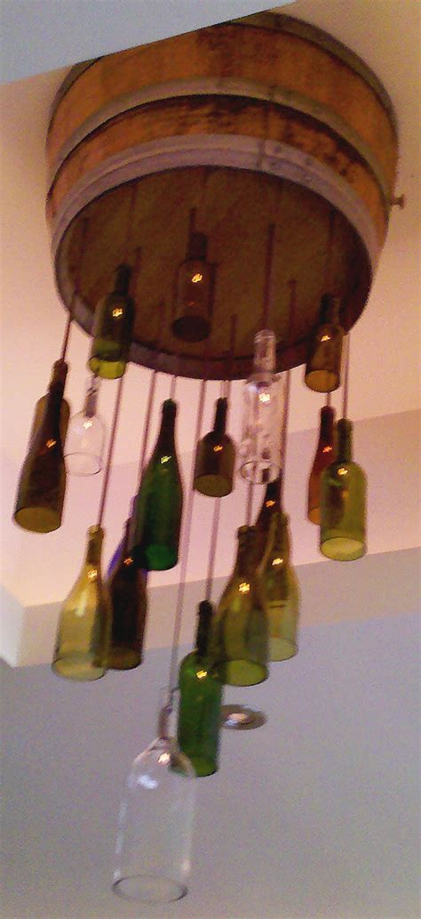 wine bottle light fixture chandelier crafting with style wine bottle light fixtures