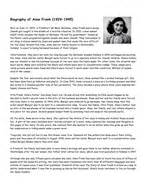 anne frank biography book report year 6 non fiction 1 biography and autobiography by