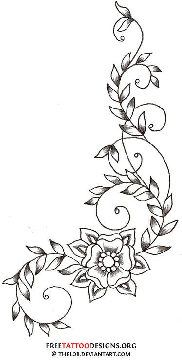 flower with vines tattoo designs flower gallery 70 flower designs