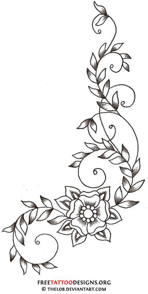 mandala vine tattoo swirly vine and flower tattoo design tattoo ideas