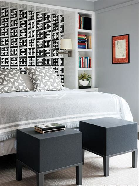ideas for bed headboards home dzine bedrooms storage ideas around the headboard