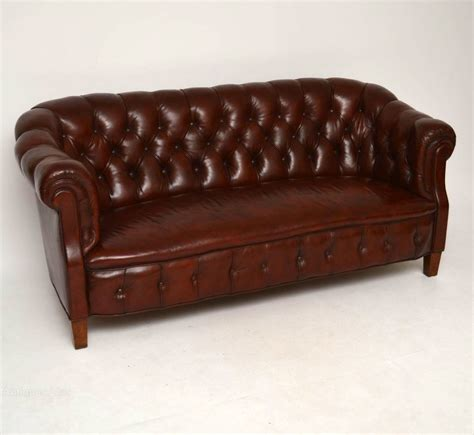 Antique Chesterfield Sofa Antique Swedish Leather Chesterfield Sofa Antiques Atlas