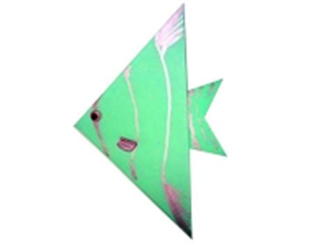 Simple Fish Origami - how to make origami animals