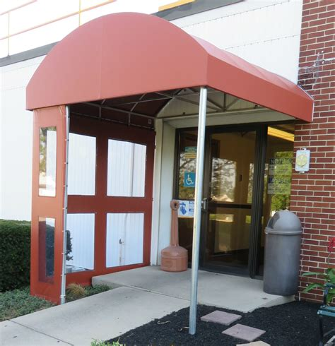 Awning Covers Entrance Canopy With Clear Vestibule Panels Kreider S
