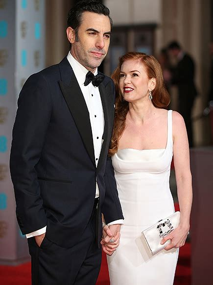 Sascha Baron Cohen As Borat Photocall And Press Conference At The Sydney Opera House by Baftas 2016 Isla Fisher And Sacha Baron Cohen