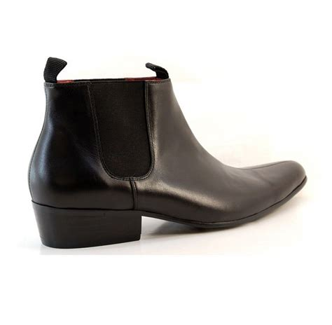 mens beatle boots mens leather pointed paolo vandini winklepickers cuban