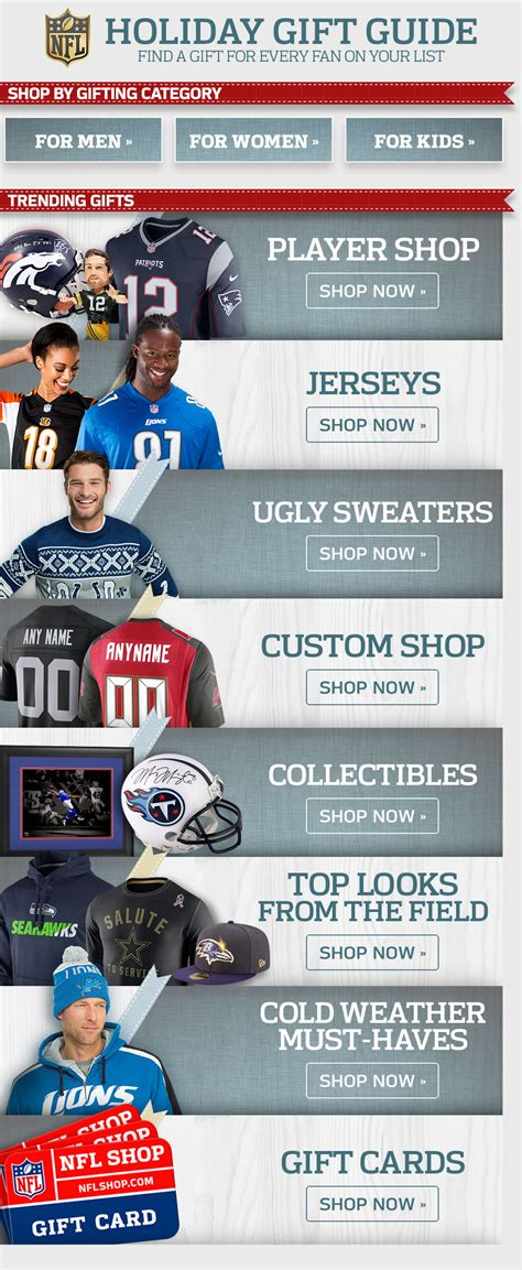 nfl gifts buy nfl gifts for men women and kids at