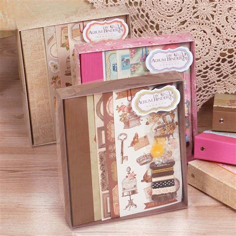 wedding scrapbook album kit diy photo album kit vintage scrapbook album set for