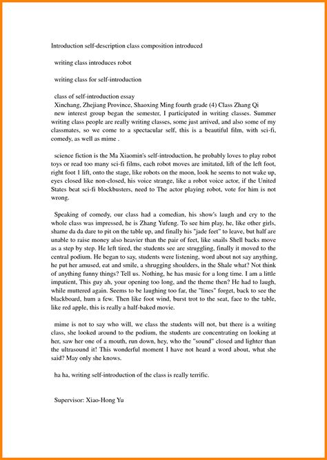 Self Writing Essay by 3 How To Write An Introduction Essay About Myself Introduction Letter