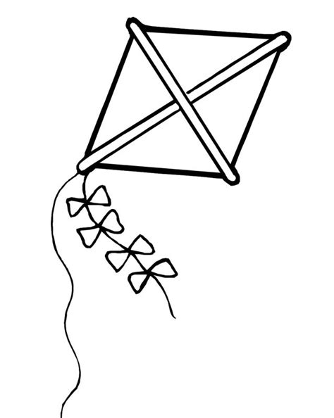dltk kite coloring page printable kite coloring sheets alltoys for