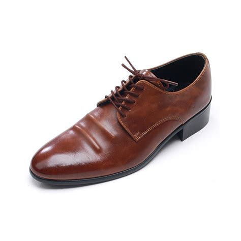 mens toe wrinkles lace up dress shoes
