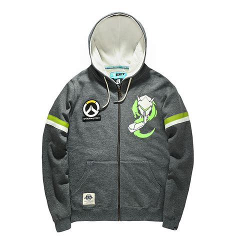 Zipper Hoodie Overwatch Brothersapparel 2 overwatch genji zip up hoodie mens gray sweatshirt cool wishining