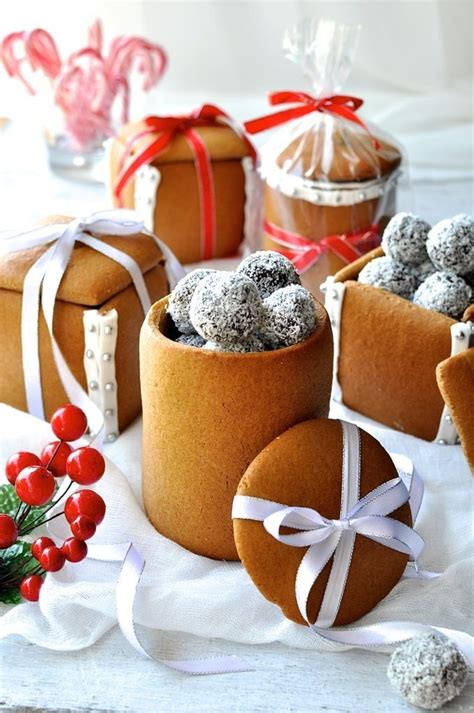homemade gingerbread gift boxes jars for treats pictures