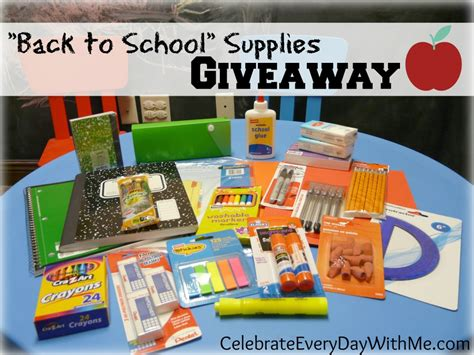 School Supply Giveaway - back to school supplies giveaway celebrate every day with me