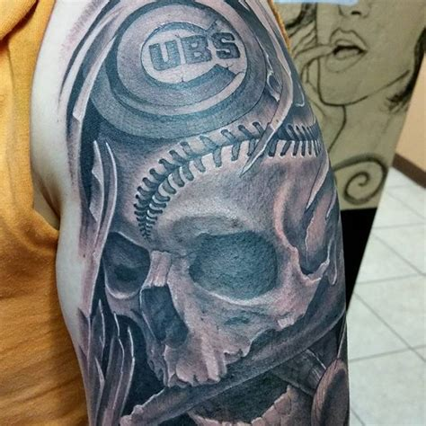 cubs tattoo ideas superfans and their oddly interesting chicago cubs tattoos