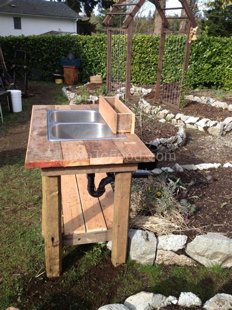 backyard sink garden washing sink lawn to food