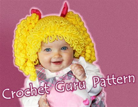 free cabbage patch hat pattern crochet cabbage patch kid inspired hat pattern 6 sizes