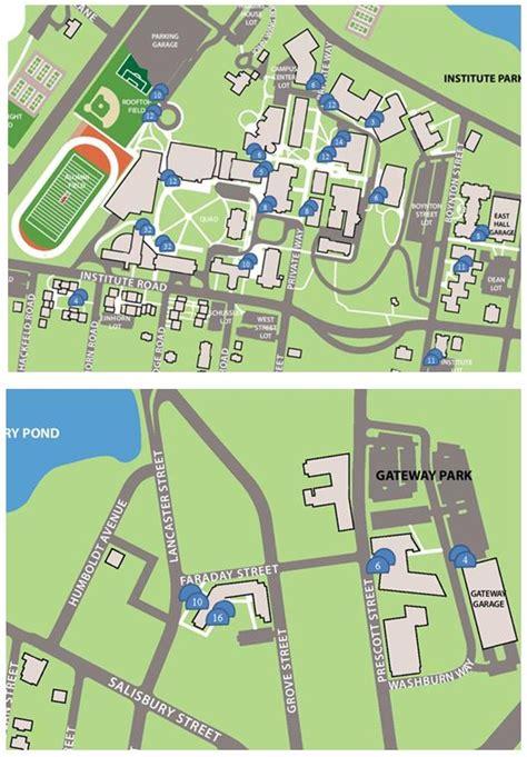 Bike Rack Locator by Wpi Cus Map World Map 07