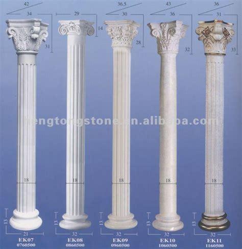 white marble roman round pillar view roman round pillars