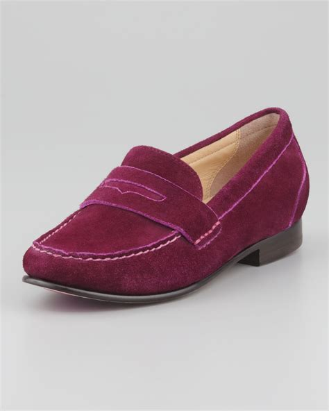 suede cole haan loafers cole haan suede loafer wine in purple wine