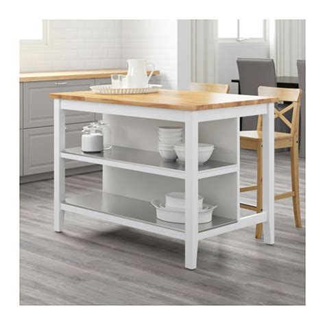 kitchen island table ikea stenstorp kitchen island white oak 126x79 cm ikea