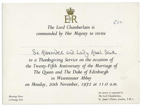Royal Wedding Anniversary Card by Lot Detail Royal Invitation To The 25th Wedding